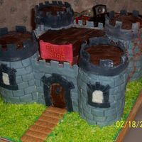 Castle Cake This was a castle cake that my son and I made for his Cub Scout Father Son Cake Contest in 2006. We won first place.