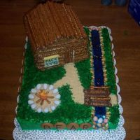 Log Cabin This was a cake that my son and I did for the Cub Scout Father Son Cake Contest in 2005. We won first place