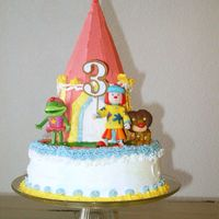 Jojo's Circus Theme 3-Year Birthday Cake This was my first time decortaing a cake! I received a lot of inspiration from everyone's pictures - thanks so much!! For the icing I...
