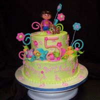 Dora Cake This cake was inspired by cakes made by boween and cakesbyallison - they both do awesome work and I borrowed from both. This was first a 5...