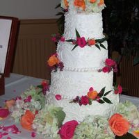 First Wedding Cake! (Paid One, That Is!) This was my first paid gig, this past weekend. I have done two other wedding cakes for family members, but it was exciting to do my first...