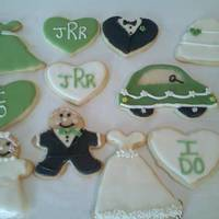 Wedding Cookies   NFSC with RI and/or fondant