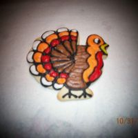 Turkey Sugar cookie, hand decorated with Snow-white Buttercream