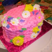 Basket Weave Final Cake Course 2 I did mine in a pink I wanted it to be a little different. I think it came out very nice.