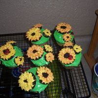 "Sunflower Cupcakes Sunflower cupcakes from ""Hello, Cupcake!"""
