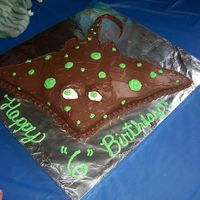 Spotted Stingray Cake Stingray cake made for my youngest son's 6th birthday- brown with green spots per his request. It took me a while to figure out how I...