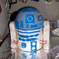 R2D2 Cake  Made for my middle son's 9th birthday- R2D2 is the tallest cake I've made so far! He was a big challenge for me, but luckily...