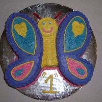 Butterfly Smash Cake This was a quick smash cake I did for my friend's daughter's first birthday. (I got notice the day before the party.) The wings...