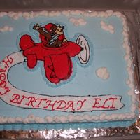 Curious George Curious George and airplane are a FBCT. This was done for my nephew's first birthday.