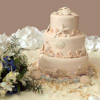 Rebecca's Wedding I thought this cake turned out horrible, but when the professional photo came back, it looked much better! Iced in cream colored fondant...