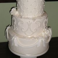 White On White My client saw this on the cover of Wedding Cakes magazine (Squire's), and she wants this cake for her May wedding. So I did a demo to...