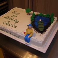 I'd Rather Be Fishing Cake
