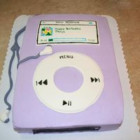 Ipod Last minute cake for a teenager's birthday. I was told that she likes purple and that was all I had to go on. Copied this from someone...
