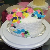 Wilton Course 2 Final Cake This is my final cake from the Wilton Course 2 Class.it was a blast to make!