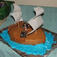 Shipcake01.jpg  Pirates of the Caribbean Cake for Friends Birthday! She is a big fan!My wife and I are going to surprise her with her own Black Pearl Cake...