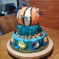 Under The Sea Also another one of my mother's cakes. This one was for her friends grandson's second birthday. She used the baseball mold to...