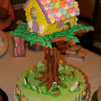 Bunny Tree House This cake looked alot harder to make, in the Wilton book, than it actually was my mom said. She hand painted ever piece of candy. And...