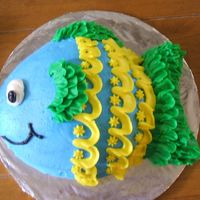 Fish Smash Cake  Friend requested a fish smash cake for her nephew's first birthday. All buttercream. This is one of my favorite cakes that I've...