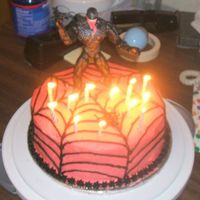 Venom Cake  Boys always pick the strangest birthday cakes! This one insisted on having Venom from Spiderman. Don't tell him the icing was actually...