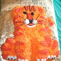 Tiger Cub   I don't even remember the flavor but it was decorated in buttercream. Baked in the teddy bear pan. 9yr old boy loved it!