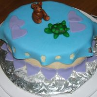 Bear And Turtle   Final cake for a fondant class. I was thrilled when I realized that anything I can make from polymer clay I can also make from fondant!
