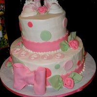 Baby Shower I did this cake while visiting my parents. Any time I do a cake somewhere other than home, I have issues with smoothing, stacking, etc. I...