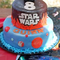 Star Wars This was for my son's birthday this year. I'm never really happy with my own kid's cakes because I'm usually so rushed...