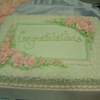 Floral Sheet Cake !/2 sheet cake decorated in buttercream