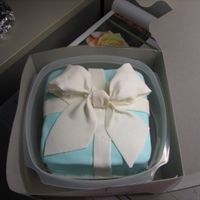 Gumpast Bow Box Cake  Traveled with this Cake to New Orleans. My first attempt at a Gumpaste bow. Learned a few things the hard way, but overall I think it...