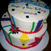 Whimsy 59Th B-Day Cake