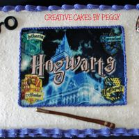 "Harry Potter Cake for ""Harry Potter tournament"" at local library."