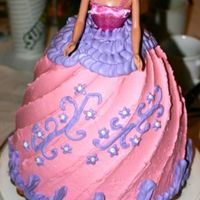3-D Barbie Cake   4 Layers of cake. I made this one for my niece when I was visiting her on vacation.