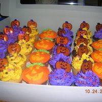Mazzi's Birthday Cupcakes These were made for Mazzi 2nd grade class for her birthday..... The purple frosting was the favorite