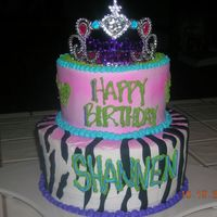 Shannen's Birthday THis cake was for a 14 year old sister who just had a birthday this weekend.... She loved it....