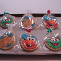 A Trip To Sesame Street My grandson loves Grandma's cookies almost as much as he loves Elmo LOL.. I made these for him as he will be turning 2 on the 12th of...