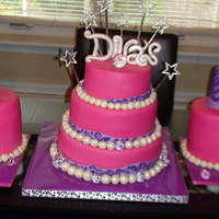 Diva Nail Polish Cakes nail polish mini cakes for twins and pink and purple leopard cake