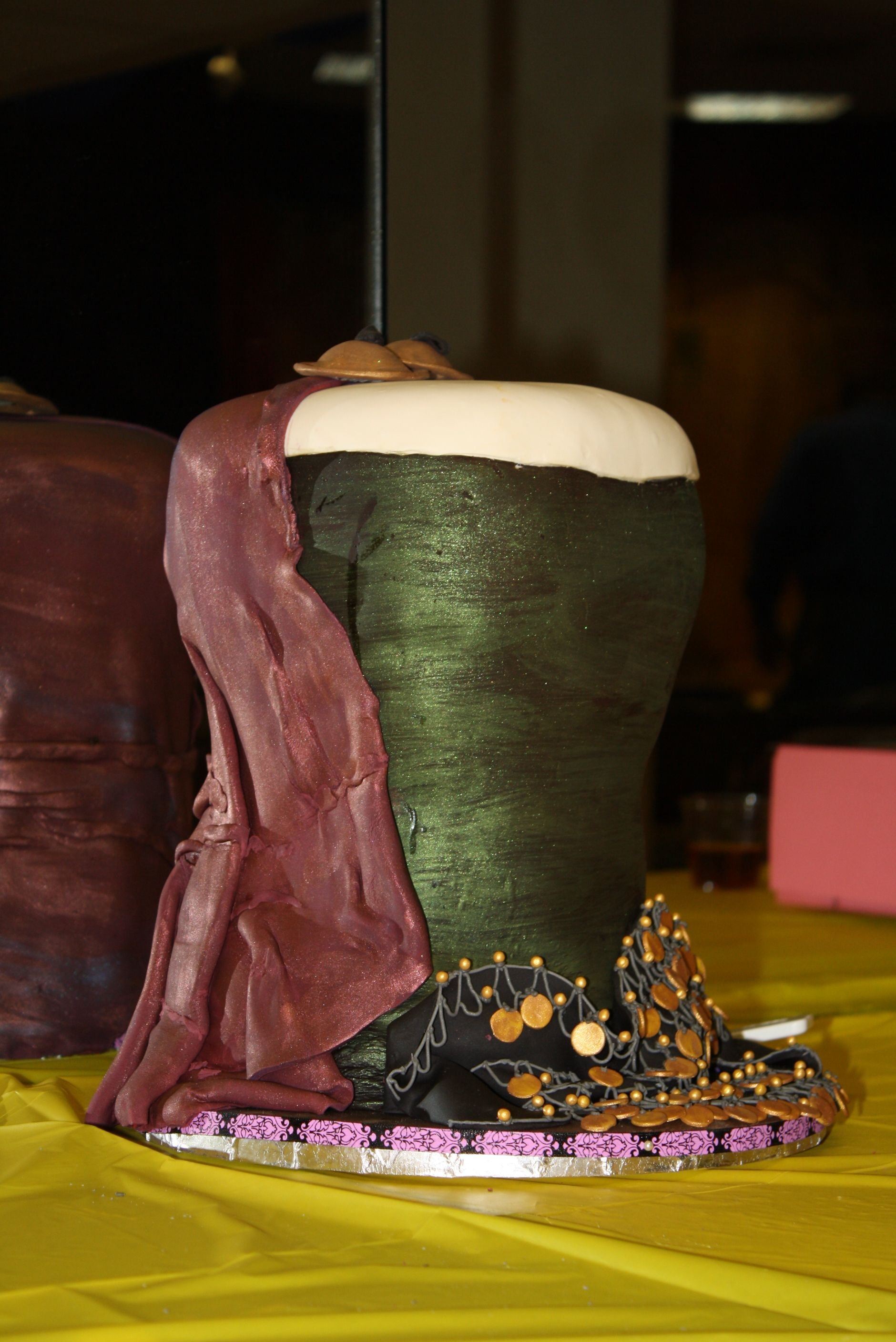Sirrom's 29Th Anniversary Hafla Cake I made it for my bellydance school's 29th anniversary show. It's a 'doumbek' (drum), draped in a bellydance veil and a...
