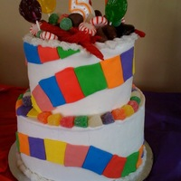 Candy Land 5 yr old's CandyLand themed party - the mom sent me a pic of what she wanted. BC with MMF accents.