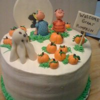 Cb & The Great Pumpkin Cookies N Cream Cake with BC. MMF accents. LOVED doing this one!