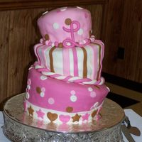 Baby Lily's Cake My first Topsy-Turvy Cake!!top: Orange Dreamsicle cake with Cream cheese icingmiddle: White Almond Sour Cream Cake with Vanilla buttercream...