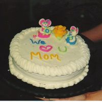 Mother's Day Cake I made this cake for my mom for mother's day. The mice and letters were made with candy clay. It was my first time working with candy...