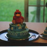 Rockin Robin I made this cake for my nephew's first birthday. I got the idea from his grandpa because he always sings the song Rockin Robin to him...
