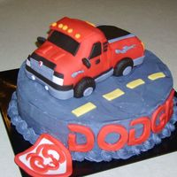 Dodge Ram This cake was made for a customer whose son was turning 16. It was made to look like his truck. The cake was chocolate covered in...