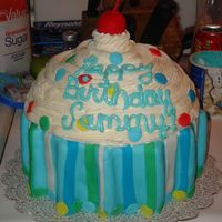 Baby 1St Birthday made this for my son's 1st birthday. He had a cupcake theme. I had been wanting to make this for a long time. White cake with fresh...