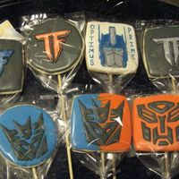 Transformers Last minute order for favors for Transformer b-day party. Forgot to get pics before being bagged. Optimus Prime is from an earlier version...