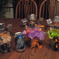 Miniature Halloween Cookie Bouquet My DD gave me some tiny tins that she got at a wedding as favors. I've never done a miniature bouquet before. Coke is in pic so you...