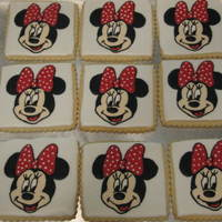 Minnie Mouse NFSC w/ Carmie's icing - used stickers from birthday decor for design