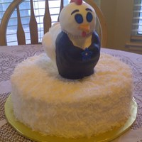 "Hen Party This cake was for a conservative ""Hen Party"". The voluptuous hen is made of rice krispie treats and covered in fondant. She is..."