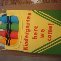 Son's Preschool Graduation I saw this cake here and love it. I tried it for son's preschool graduation. It was a big hit!