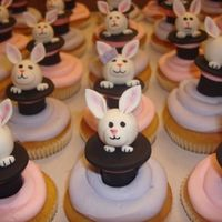 Magic Hat With Rabbit Coming Out These cupcakes were for a magic party.